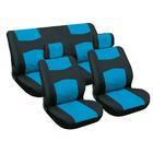 Carpoint Stoelhoesset 6-delig blauw/zwart 10048