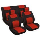 Carpoint Stoelhoesset 6-delig rood/zwart 10050