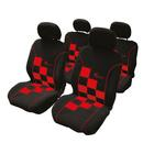 Stoelhoesset 8-delig 'Racing' rood airbag Carpoint 0310220