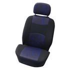 Carpoint Stoelhoesset voor 4-dlg 'Classic' zwart/blauw 10405