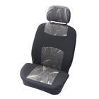 Carpoint Stoelhoesset voor 4-dlg 'Classic' zwart/grijs 10406