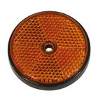 Reflector rond 70 mm oranje bulk Carpoint 0413955