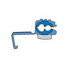Kabelverbinders 1560 blauw blister 5st Carpoint 1624027