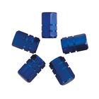 Carpoint Ventieldopjes 5st zuiger blauw 16006