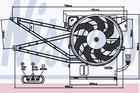 Nissens Ventilatormotor-/wiel Airco condensor 85017