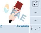 Koppelingbedieningsschakelaar (motor) / Remlichtschakelaar Fae 24896
