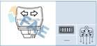 Raambedieningsschakelaar Fae 61240
