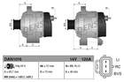 Alternator/Dynamo Denso dan1016