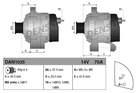 Alternator/Dynamo Denso dan1035
