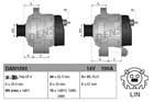 Alternator/Dynamo Denso dan1093