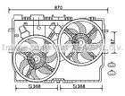 Ventilatormotor-/wiel motorkoeling Ava Cooling ft7584