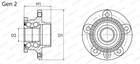Moog Wiellagerset VO-WB-11058