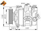 Nrf Airco compressor 32146