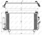 Airco condensor Nrf 35755