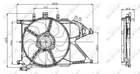 Nrf Ventilatormotor-/wiel motorkoeling 47012