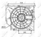 Nrf Ventilatormotor-/wiel motorkoeling 47026