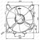 Ventilatormotor-/wiel motorkoeling Nrf 47041