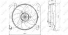 Nrf Ventilatormotor-/wiel motorkoeling 47255
