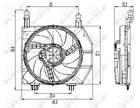 Nrf Ventilatormotor-/wiel motorkoeling 47261