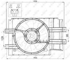 Nrf Ventilatormotor-/wiel motorkoeling 47472
