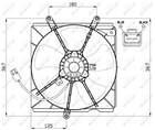 Nrf Ventilatormotor-/wiel motorkoeling 47479