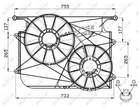 Nrf Ventilatormotor-/wiel motorkoeling 47535