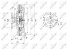 Ventilatorkoppeling Nrf 49605