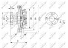 Ventilatorkoppeling Nrf 49609