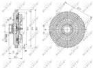 Ventilatorkoppeling Nrf 49622