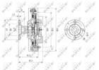 Ventilatorkoppeling Nrf 49624