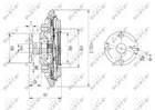 Ventilatorkoppeling Nrf 49643