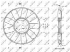 Ventilatorwiel motorkoeling Nrf 49810