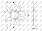 Ventilatorwiel motorkoeling Nrf 49811