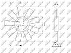 Ventilatorwiel motorkoeling Nrf 49812