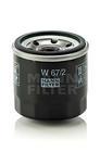 Oliefilter Mann-filter w672