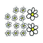 Mijnautoonderdelen Auto Tattoo Flowers White/Yellow 13 AV 103009