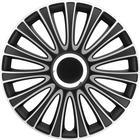 Mijnautoonderdelen Wieldop Set LeMans 15'' Black/Silve PP 5135