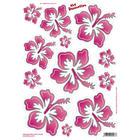 Quattroerre Stickervel Flowers pink (34x24cm) QR 5321