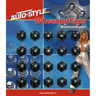 Wheelnut Covers Black 19mm 20pcs Mijnautoonderdelen sywn19z
