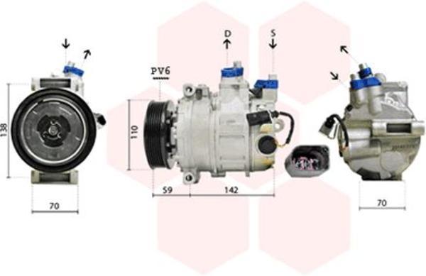 Van Wezel Airco compressor 0300K029