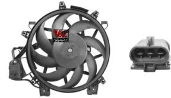 Van Wezel Ventilatormotor-/wiel Airco condensor 3779750