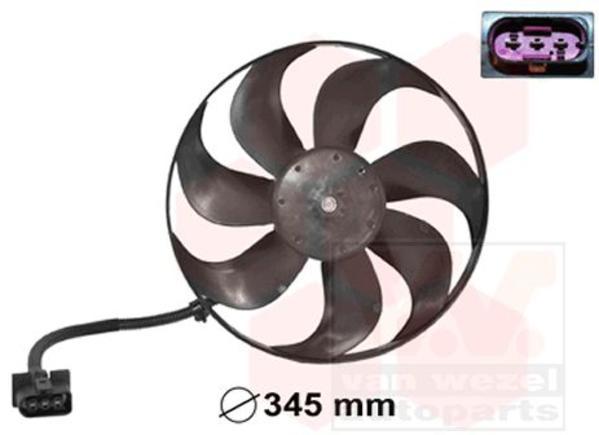 Van Wezel Ventilatormotor-/wiel motorkoeling 5888744