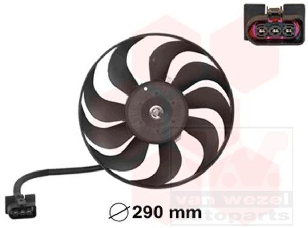 Van Wezel Ventilatormotor-/wiel motorkoeling 5888745