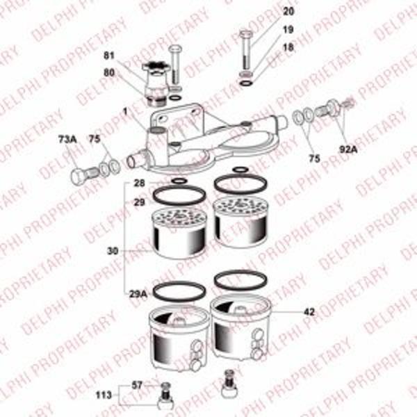 Delphi Diesel Brandstoffilterhuis 6300B040A