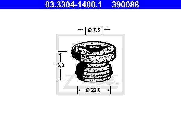 Ate Rem onderdeel (hydr.) 03.3304-1400.1