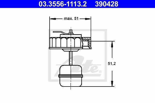 Ate Remvloeistofreservoir deksel 03.3556-1113.2