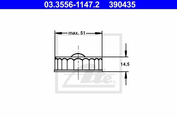 Ate Remvloeistofreservoir deksel 03.3556-1147.2