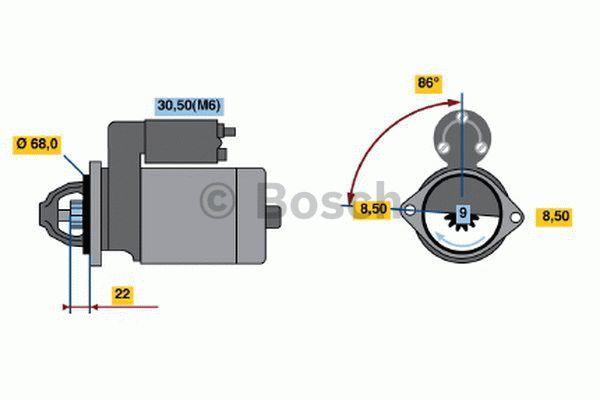 Bosch Starter 0 001 107 098