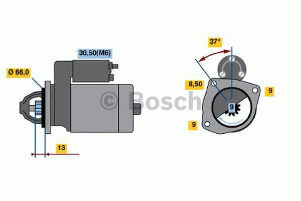 Bosch Starter 0 001 107 411