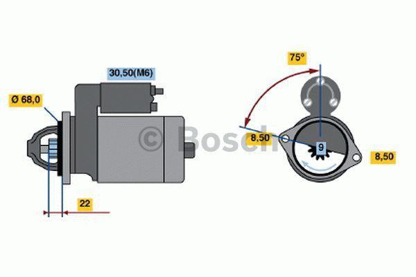 Bosch Starter 0 001 107 435